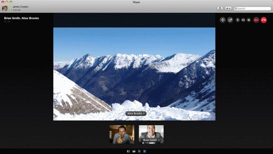Отображение в skype дисплея монитора