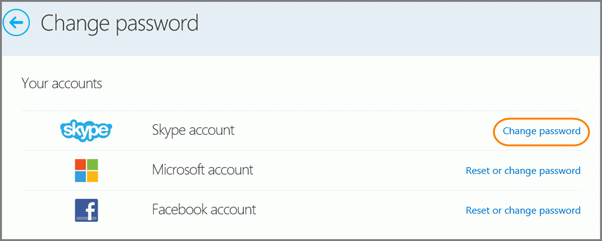 изменение пароля в скайпе - простейшая процедура