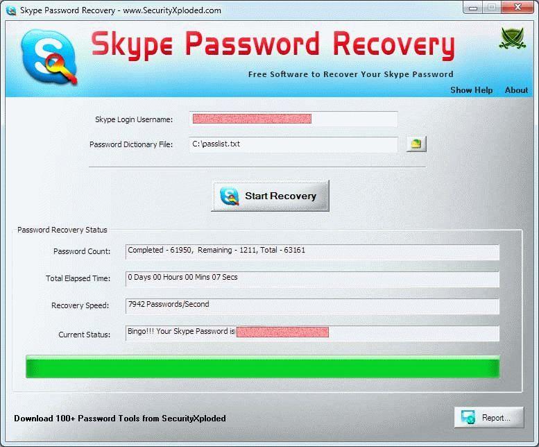 как восстановить пароль с помощью skype recovery password