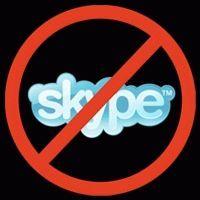 Часто бывает, что скайп висит в процессах но не запускается