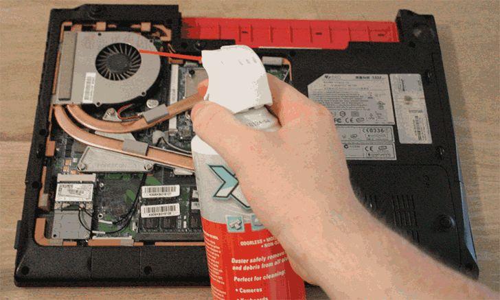 Сжатый воздух для чистки ноутбука