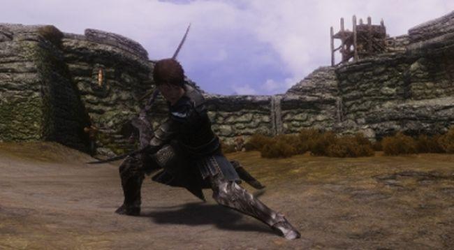 Skyrim мод на анимацию боя и бега