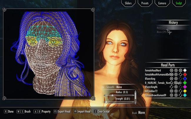 Скайрим создание красивого персонажа