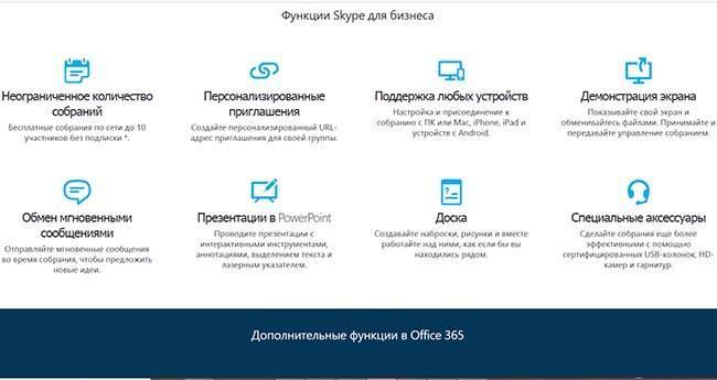 Преимущества учетной записи скайп для бизнеса