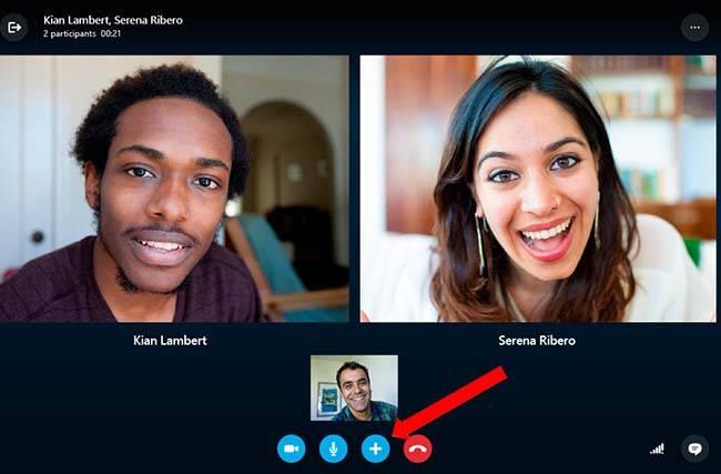 Как сделать снимок во время разговора по skype