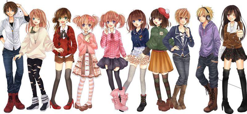 персонажи в аниме