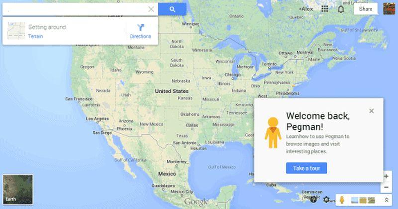 Pegman в Гугл картах